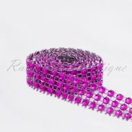 Fuchsia Bling 3 row